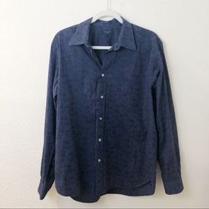 Ted Baker London floral button down blue